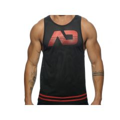 ADDICTED Fetish AD Mesh Tank Top - Red