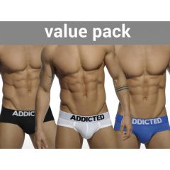 ADDICTED My Basic 3 Pack Brief - 3 Colours