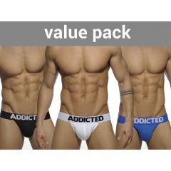 ADDICTED My Basic 3 Pack Jockstrap - 3 Colours