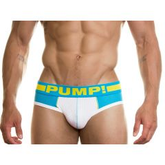 Pump! Spring Break Brief - White Turquoise