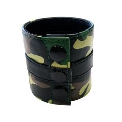 Leather Camo Wrist Band Wallet