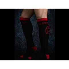 LOCKER GEAR Knee High Socks - Red O/S