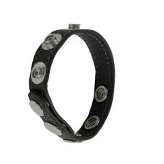 Leather Cock Ring/Strap Multisnap