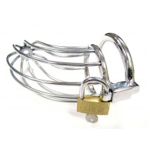 Stainless Steel Chastity Cock Cage with Padlock