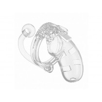 10 - Chastity Cock Cage - Clear - 3.5inch