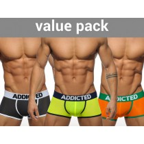 ADDICTED 3 Pack Light Boxer - 3 Colours