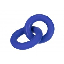 Hunkyjunk Cock and Ball Cock Rings Duo Linked - Cobalt Blue