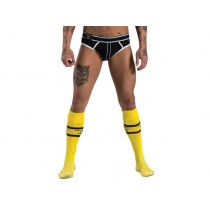 Mister B URBAN Football Socks with Pocket Yellow 38-41