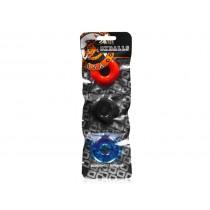 OXBALLS Ringer Cock Ring 3-Pack - Multi-Colour