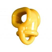 OXBALLS Splitsling Cock/Ball Separator Teardrop Cock Ring (Yellow)