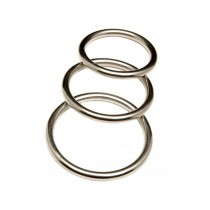 Revenge Metal Cock Ring 3 Ring Pack