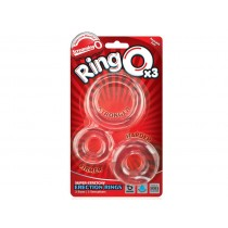 Screaming O Ringo 3 Piece Cock Ring Set - Clear
