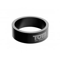 Tom of Finland Gun Metal Aluminium Cock Ring - 50mm