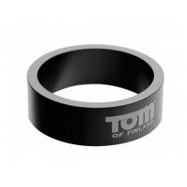 Tom of Finland Gun Metal Aluminium Cock Ring - 60mm