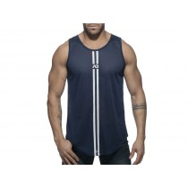 Addicted Double Stripe Tank - Navy