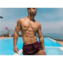 Box Menswear Swim Shorts - Burgundy