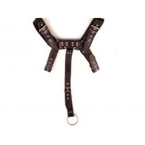 Leather Full Body Harness - Black