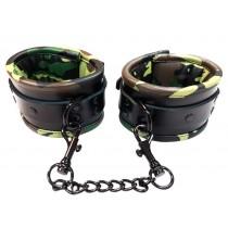 Leather Padded Wrist Cuffs - Camo