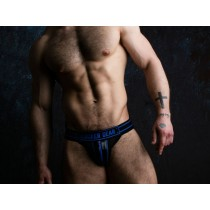 LOCKER GEAR Jockstrap with Zipper - Blue