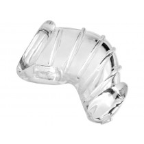Master Series Detained Soft Body Chastity Cage - Clear
