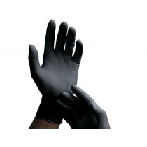 Black Latex Gloves - 10 Pairs - Medium