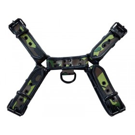 Leather O.T. Front Harness Camo