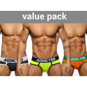ADDICTED 3 Pack Light Brief - 3 Colours