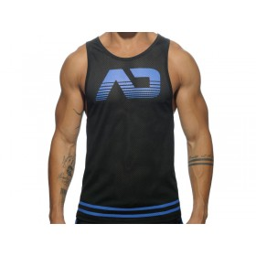 ADDICTED Fetish AD Mesh Tank Top - Royal Blue