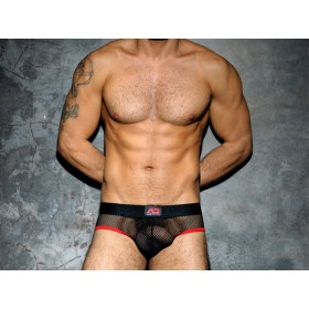 ADDICTED Fetish Mesh Brief - Red