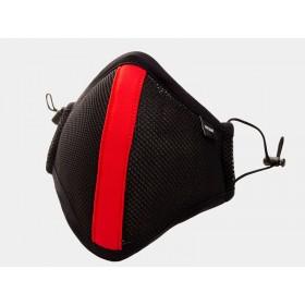 Barcode Ensign Milo Face Mask - Black Red