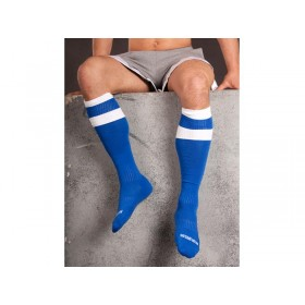 Barcode Football Socks - Blue White - S/M