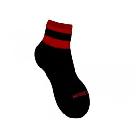 Barcode Socks Petty  - Black Red - S/M