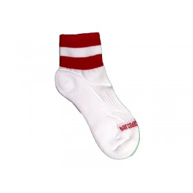 Barcode Socks Petty  - White Red - S/M