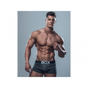 BOX Menswear Trunk - Grey with Black Waistband