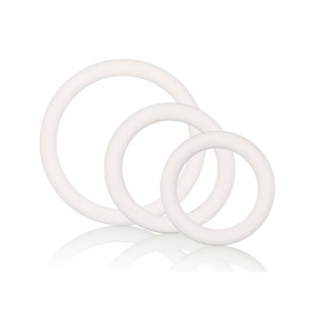 CalExotics Tri-Rings 3 Piece Cock Ring Set - White