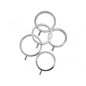 ElectraStim Solid Metal Cock Ring Set - 5 Sizes