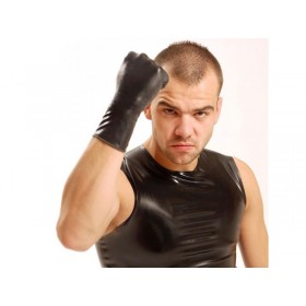 Fisting Rubber Gloves Wrist - Black