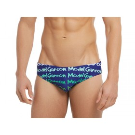 Garcon Model Graffiti Swim Brief - Navy