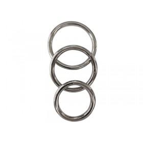 Manbound Metal Cock Ring 3 Pack