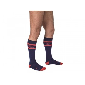 Mister B URBAN Football Socks Navy Red 42-46