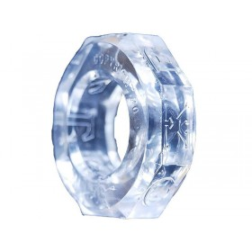 OXBALLS Screwballs Cock Ring (Clear)