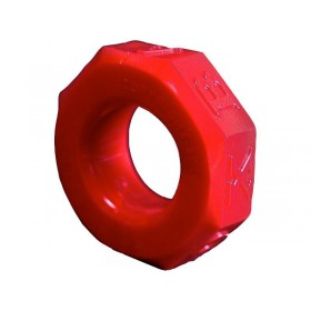 OXBALLS Screwballs Cock Ring (Red)
