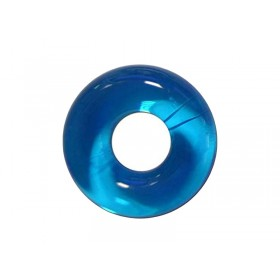 Sport Fucker Chubby Rubber Cock Ring - Clear Blue