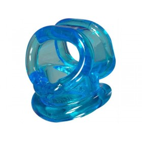 Sport Fucker Powersling Cock Ring and Ball Sling - Ice Blue