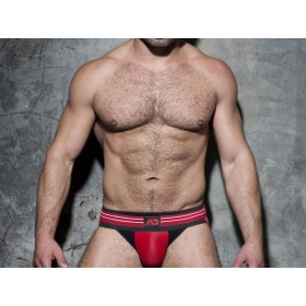 ADDICTED Double Stripe Jock - Red