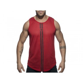 ADDICTED Double Stripe Tank - Red
