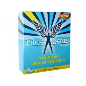Blue Zeus Sexual Enhancement Herbal Supplement - 2 Pack (850mg pill pack)