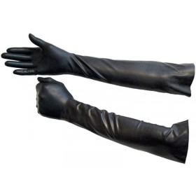Elbow Length Rubber Gloves - Size Large