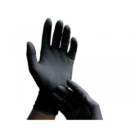 Black Latex Gloves - 10 Pairs - Small
