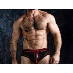 LOCKER GEAR Josh Bottomless Zipper Brief - Red